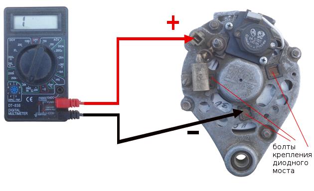 Проверка регулятора и диодного моста генератора ВАЗ 2107, как проверить мультиметром, инструкции с фото и видео