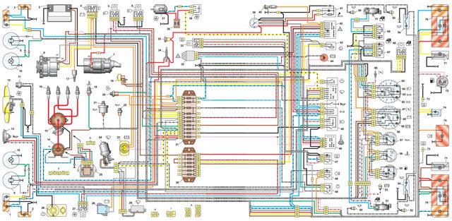 Электросхема ваз 2101 карбюратор и инжектор с описанием электрическая схема зажигания неисправности электрооборудования