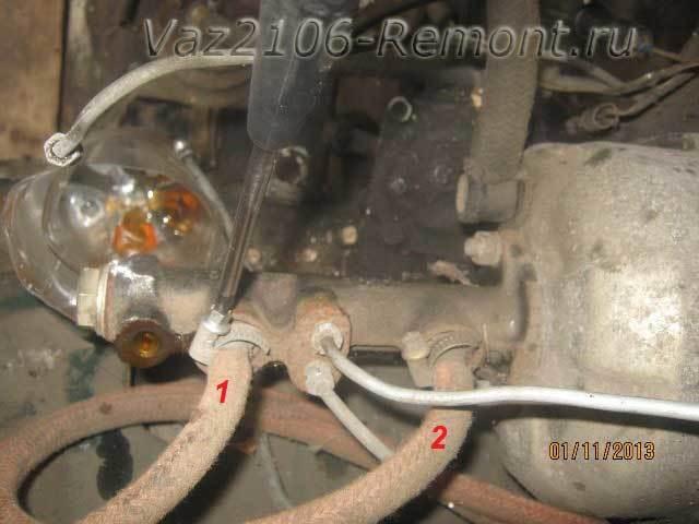 Главный тормозной цилиндр ваз 2106: устройство, замена и ремонт, инструкции с фото и видео