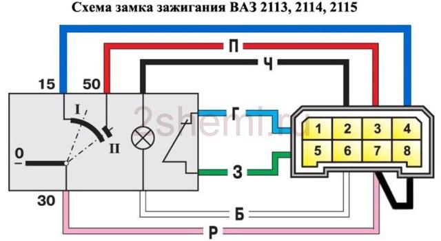 Замок зажигания ВАЗ 2106: схема подключения, как подключить и поменять, инструкции с видео и фото