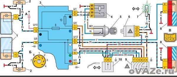Электросхема ваз 2107 инжектор и карбюратор, неисправности, схемы веток, инструкции с фото и видео