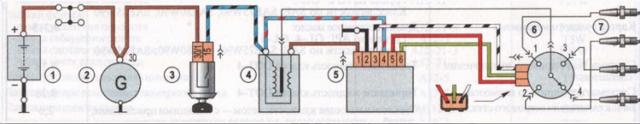 Схема электрооборудования ваз 2106, описание, неисправности, цветные электросхемы зажигания