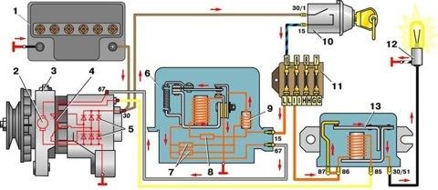 Электросхема ваз 2104 (21043) карбюратор и инжектор с описанием, схема зажигания, неисправности электрооборудования