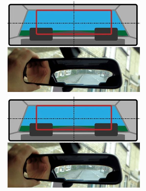 Вертикальная полоса на боковом зеркале заднего вида - зачем они нужны