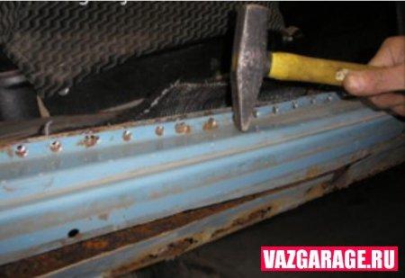 Пороги ВАЗ 2106: как переварить или заменить, инструкции с фото и видео