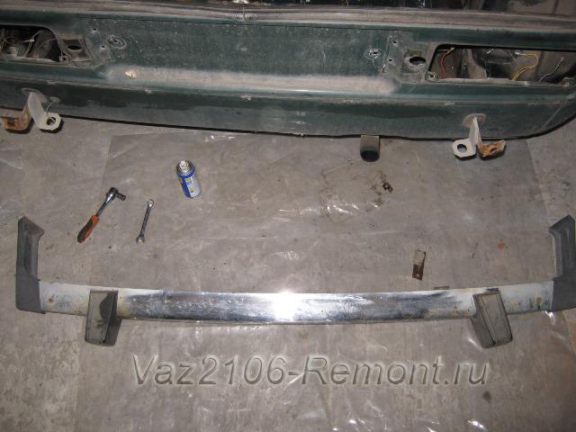 Передний и задний бампер ВАЗ 2107: как снять, какие можно поставить, инструкции с фото и видео