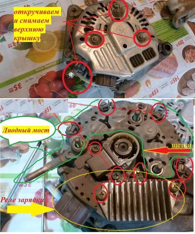 Неисправности и ремонт генератора ВАЗ 2107 своими руками, как разобрать, заменить щетки, инструкции с фото и видео