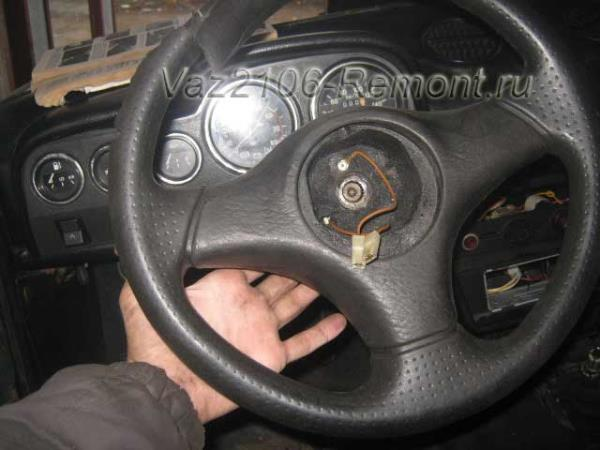 Руль ВАЗ 2106: какой подходит, как снять и разобрать, инструкции с фото и видео