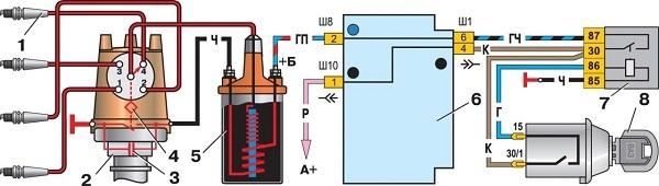 ВАЗ 21074 инжектор - схема электрооборудования с описанием, неисправности электросхемы