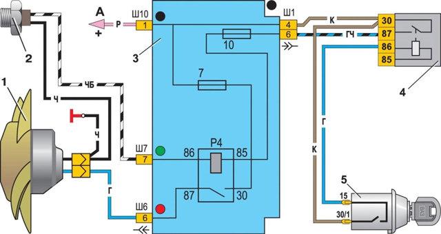Датчик включения вентилятора ваз 2107 инжектор: где находится, как проверить и заменить, инструкции с фото и видео